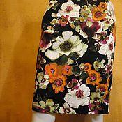 Одежда ручной работы. Ярмарка Мастеров - ручная работа Юбка с яркими цветами хлопок сатин. Handmade.