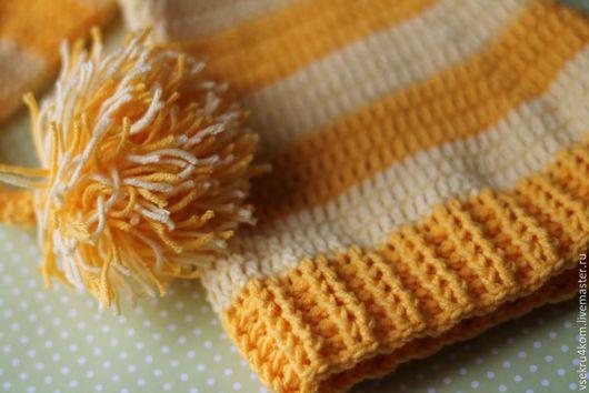 Шапки и шарфы ручной работы. Ярмарка Мастеров - ручная работа. Купить Шапочка для фотосессий. Handmade. Желтый, шапка для фотосессий