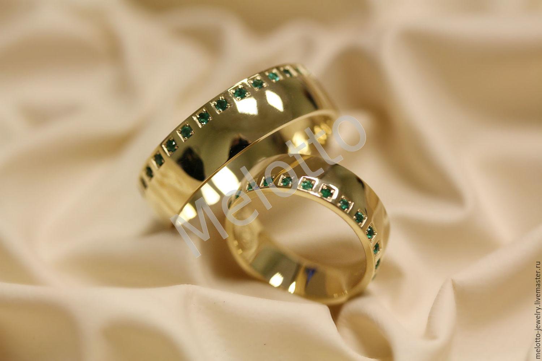 d944549827c1 Свадебные украшения ручной работы. Ярмарка Мастеров - ручная работа. Купить Обручальные  кольца с изумрудами