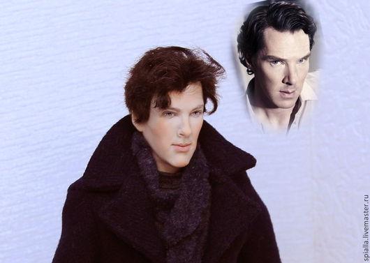 """Портретные куклы ручной работы. Ярмарка Мастеров - ручная работа. Купить """"И снова Шерлок""""портретная кукла. Handmade. Черный"""