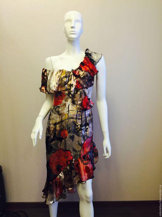 Платья ручной работы. Ярмарка Мастеров - ручная работа. Купить Платье (шелк 100 %). Handmade. Платье, спб платья