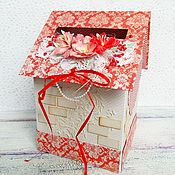 Свадебный салон ручной работы. Ярмарка Мастеров - ручная работа Свадебный домик-казна(2). Handmade.