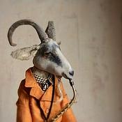 Куклы и игрушки ручной работы. Ярмарка Мастеров - ручная работа Козел на саксе.... Handmade.
