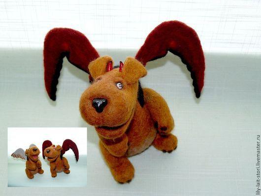 """Игрушки животные, ручной работы. Ярмарка Мастеров - ручная работа. Купить Игрушка """"Ангелы и демоны"""". Handmade. Валяние"""