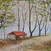 Картины и панно ручной работы. Ярмарка Мастеров - ручная работа Маленький дом в загадочном лесу. Handmade.