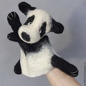 Куклы и игрушки ручной работы. Ярмарка Мастеров - ручная работа Мишка панда. Перчаточная кукла. Би-Ба-Бо.. Handmade.