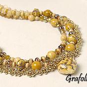 Украшения handmade. Livemaster - original item Necklace Beads with heart pendant. Handmade.