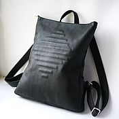Сумки и аксессуары handmade. Livemaster - original item Backpack leather black Concept Black. Handmade.