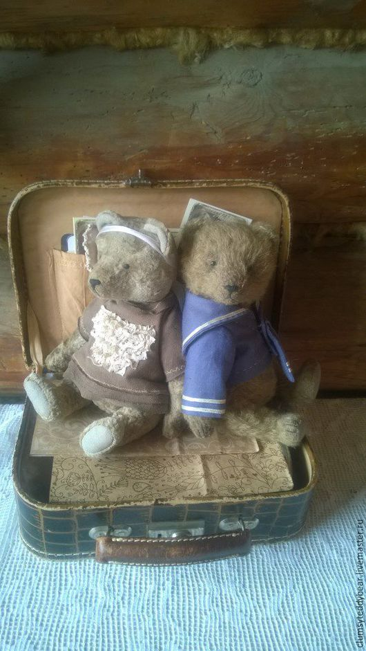 Мишки Тедди ручной работы. Ярмарка Мастеров - ручная работа. Купить Мальчик и девочка.... Handmade. Бежевый, мишка тедди купить