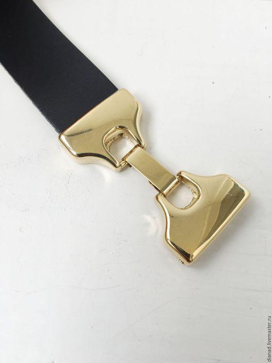 Для украшений ручной работы. Ярмарка Мастеров - ручная работа. Купить Замок механический для плоского шнура, 20х2 мм, золото. Испания. Handmade.