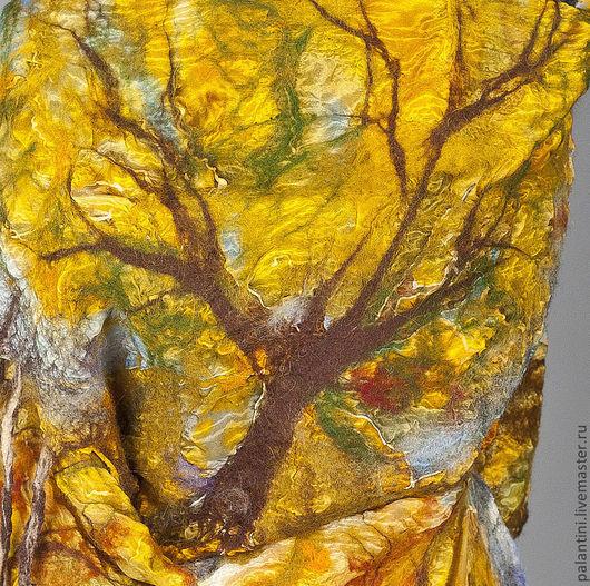 Шали, палантины ручной работы. Ярмарка Мастеров - ручная работа. Купить Осенние деревья ПАЛАНТИН двухсторонний. Handmade. Палантин