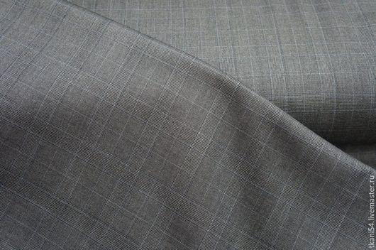 Шитье ручной работы. Ярмарка Мастеров - ручная работа. Купить Ткань кост. клетка 907, 150 см, светло-серый. Handmade.