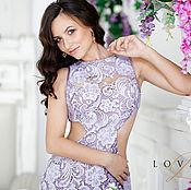 Одежда handmade. Livemaster - original item Holiday ! Purple dress lace silk. Handmade.
