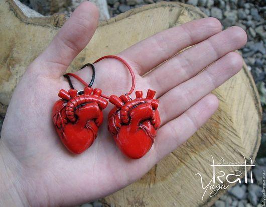 Кулоны, подвески ручной работы. Ярмарка Мастеров - ручная работа. Купить Кулон (или брелок) анатомическое Сердце. Handmade. кулон