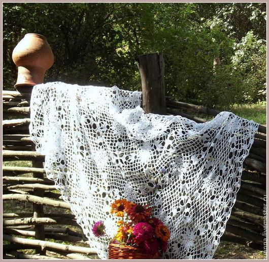 Скатерть на стол Вязаная скатерть на стол скатерть на стол крючком мотив крючком ажурная скатерть