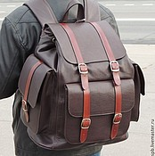 Сумки и аксессуары handmade. Livemaster - original item Brown leather backpack
