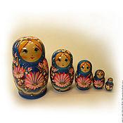 Русский стиль handmade. Livemaster - original item Matryoshka 5 local Floral small 4. Handmade.