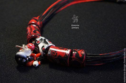 красный, коралл, агат, оригинальный подарок, оригинальное украшение, оригинальный сувенир, подарок девушке, подарок женщине, украшения ручной работы, украшение, украшение на шею