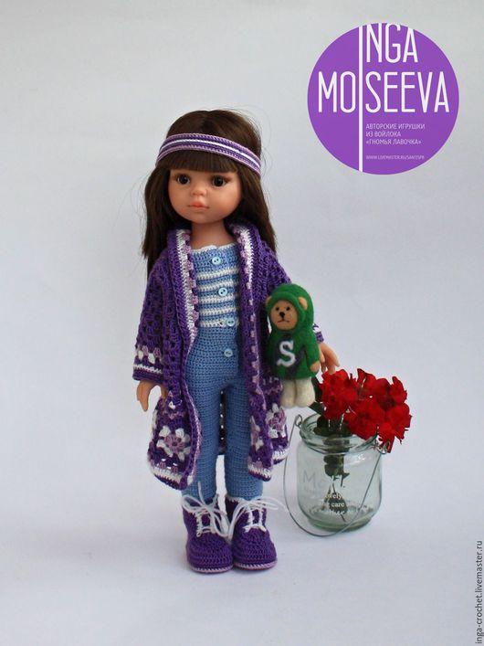 """Одежда для кукол ручной работы. Ярмарка Мастеров - ручная работа. Купить Наряд для куклы """"Прага"""". Handmade. Комбинированный, лиловый, медвежонок"""
