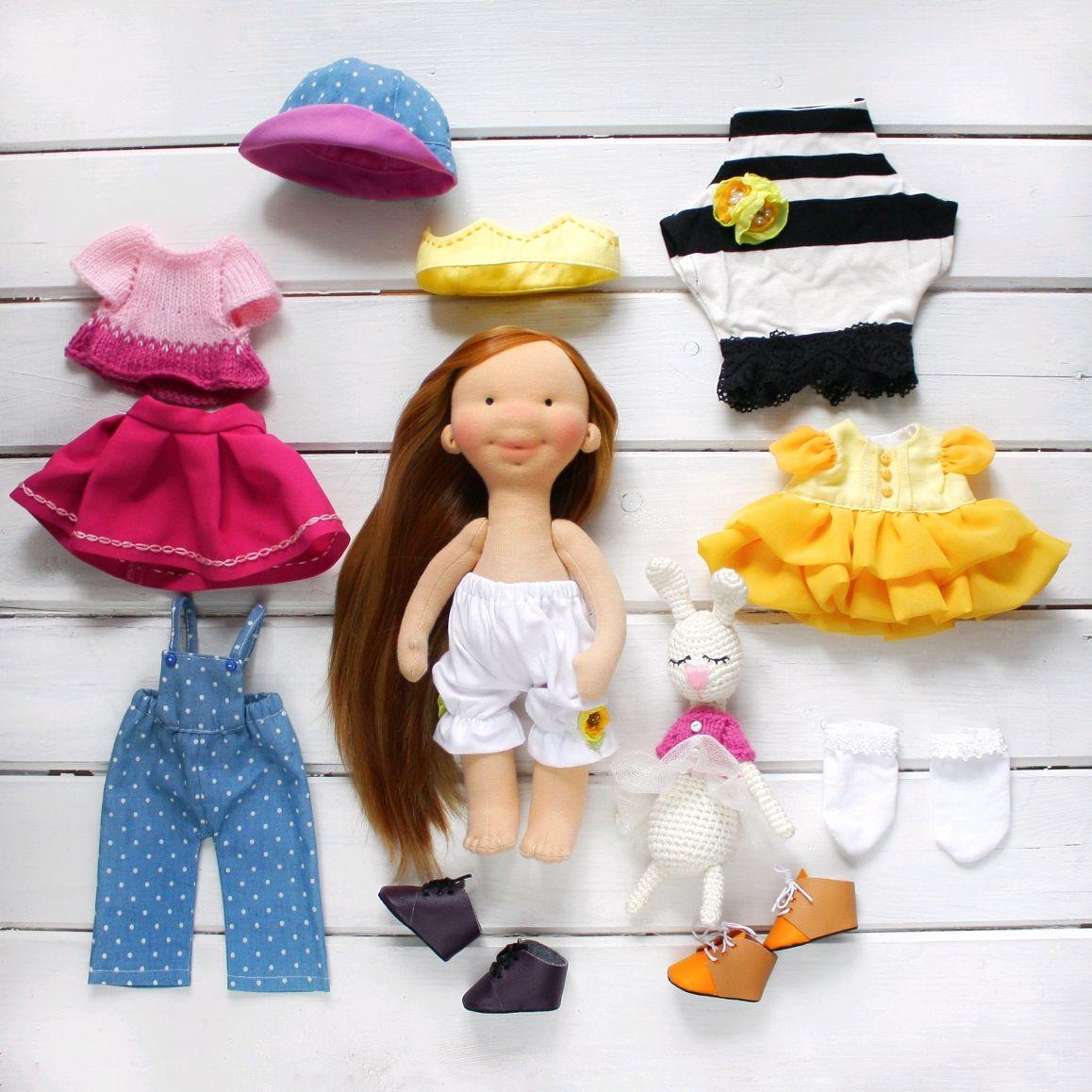 Игровая текстильная кукла со съемной одеждой, Игрушки, Москва, Фото №1