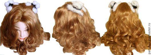 """Заколки ручной работы. Ярмарка Мастеров - ручная работа. Купить Меховые крабики  """"Кошка"""" для волос (норка). Handmade. Краб"""