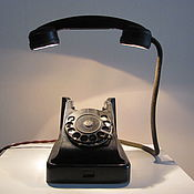 Настольные лампы ручной работы. Ярмарка Мастеров - ручная работа Телефон-светильник 1950-х. Handmade.
