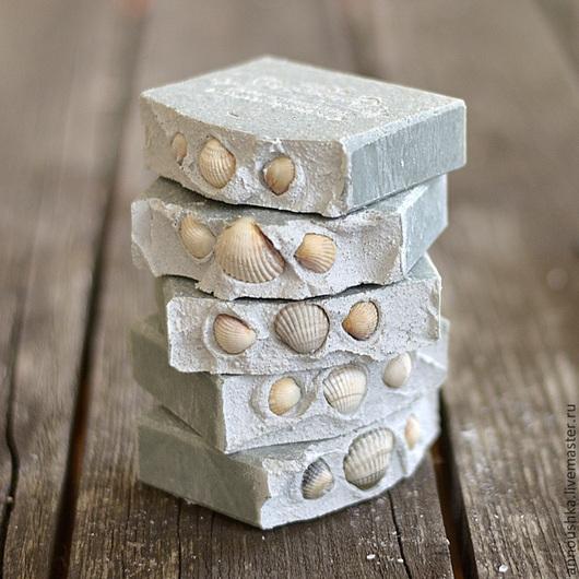 Мыло ручной работы. Ярмарка Мастеров - ручная работа. Купить Крымская голубая глина и горная соль. Handmade. Голубой