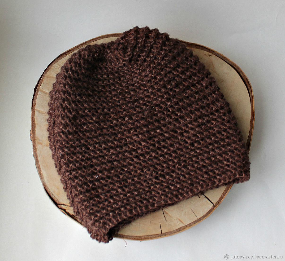 100% hemp hat - for bath, sauna, street ' Chocolate', Caps, Vologda,  Фото №1