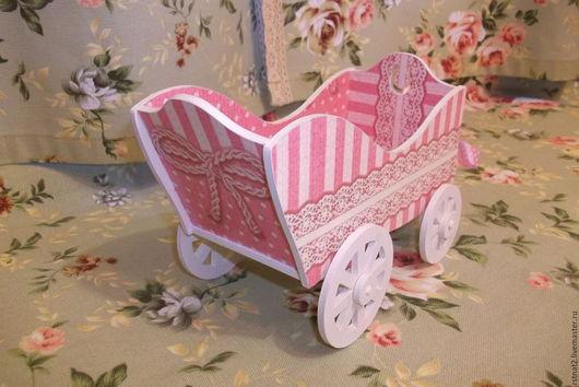 """Детская ручной работы. Ярмарка Мастеров - ручная работа. Купить Маленькая интерьерная  тележка """"Розовая мечта"""". Handmade. Розовый, конфетница"""