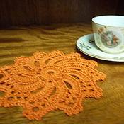 Для дома и интерьера ручной работы. Ярмарка Мастеров - ручная работа подставки под бокалы Оранжевое солнце. Handmade.