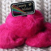 Пряжа ручной работы. Ярмарка Мастеров - ручная работа Luxury Mohair Bright Pink. Handmade.
