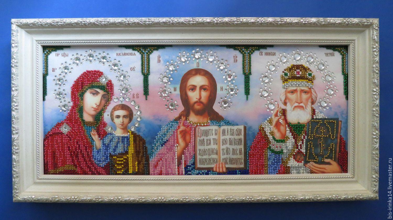 Триптих иконы для вышивки бисером