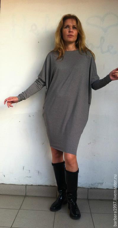 Платья ручной работы. Ярмарка Мастеров - ручная работа. Купить Платье TRIANGLE Сhocolate. Handmade. Бежевый, платье на каждый день