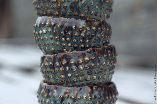 Пиалы ручной работы. Ярмарка Мастеров - ручная работа. Купить Пиала Исландия. Handmade. Бирюзовый, коричневый, Чайный сервиз