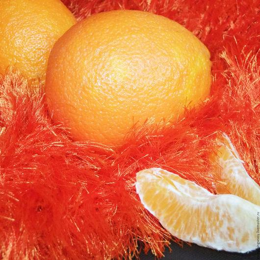 Текстиль, ковры ручной работы. Ярмарка Мастеров - ручная работа. Купить МОХНАТЫЙ АПЕЛЬСИН оранжевый плед покрывало. Handmade. Плед