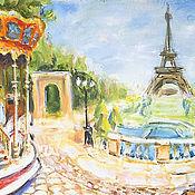 """Картины и панно ручной работы. Ярмарка Мастеров - ручная работа картина """"Любимый Париж"""". Handmade."""
