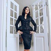Одежда handmade. Livemaster - original item Suit black peplum. Handmade.