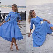 Одежда ручной работы. Ярмарка Мастеров - ручная работа Платье Морской бриз - платье миди. Handmade.