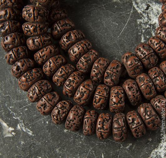 Для украшений ручной работы. Ярмарка Мастеров - ручная работа. Купить Тибетские бусины из старых семян рудракши, 18 мм. Handmade.