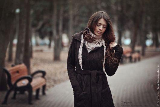"""Верхняя одежда ручной работы. Ярмарка Мастеров - ручная работа. Купить Пальто """"Осень говорит прощай"""".. Handmade. Коричневый"""