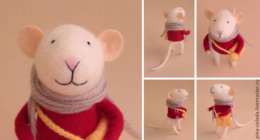 Игрушки животные, ручной работы. Ярмарка Мастеров - ручная работа. Купить мышь. Handmade. Мышь, Валяние, игрушки, Игрушки из шерсти