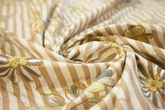 Шитье ручной работы. Ярмарка Мастеров - ручная работа. Купить Итальянский вышитый шелк.. Handmade. Бежевый, шелковые цветы