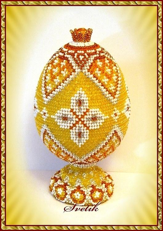 Яйца ручной работы. Ярмарка Мастеров - ручная работа. Купить Пасхальное яйцо из бисера. Handmade. Сувениры и подарки, пасхальный сувенир