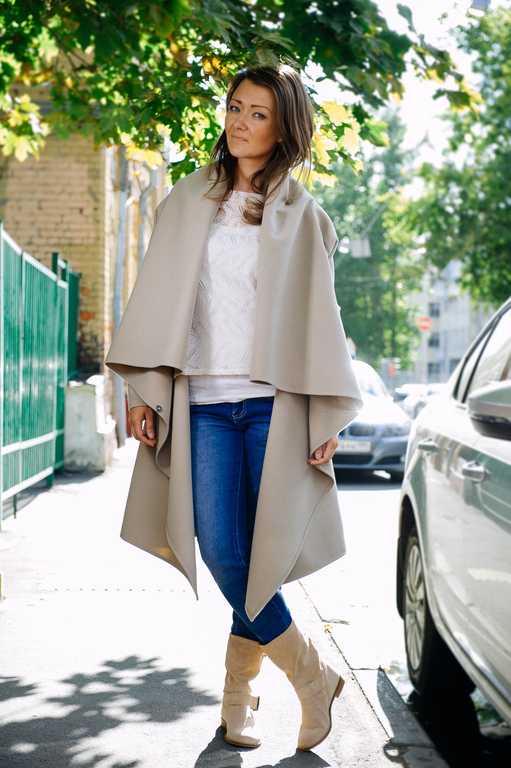 Верхняя одежда ручной работы. Ярмарка Мастеров - ручная работа. Купить Пальто-трансформер (beige). Handmade. Бежевый, пальто женское