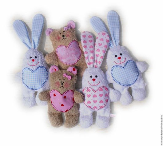 Веселые и теплые игрушки для малышей.