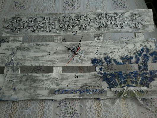 Часы для дома ручной работы. Ярмарка Мастеров - ручная работа. Купить часы настенные, комод. Handmade. Серый, Декупаж