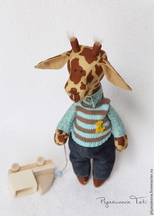 Игрушки животные, ручной работы. Ярмарка Мастеров - ручная работа. Купить Жираф Жора - мягкая игрушка тильда. Handmade. Жираф