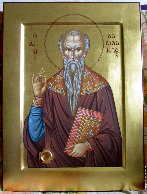 ХАРЛАМПИЙ МАГНЕЗИЙСКИЙ , священномученик , рукописная икона, Иконы, Южа, Фото №1