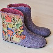 """Обувь ручной работы. Ярмарка Мастеров - ручная работа Валяные чуни """"Золотая осень"""". Handmade."""