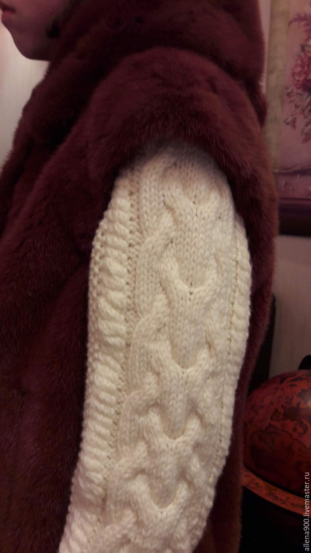 Вязаные рукава для меховой жилетки(на синтепоновам подкладе), Ткани, Тюмень, Фото №1